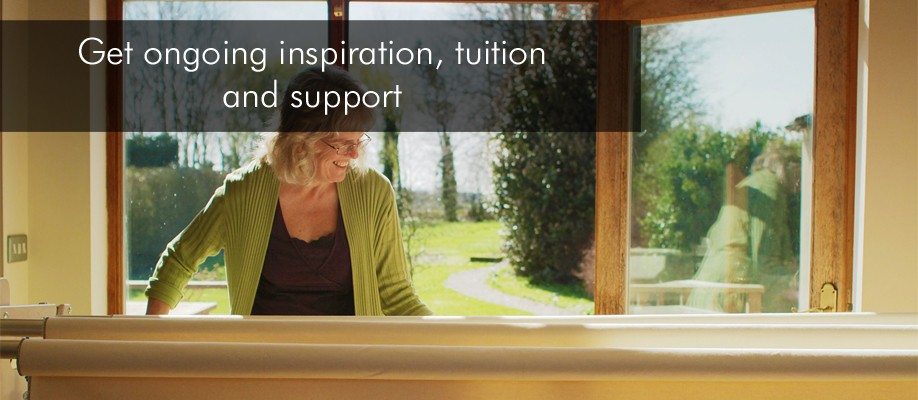 Get on-going inspiration, tuition and support